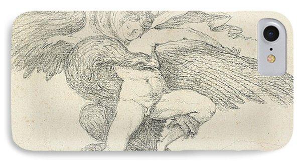 The Rape Of Ganymede IPhone Case by Jean-Honore Fragonard
