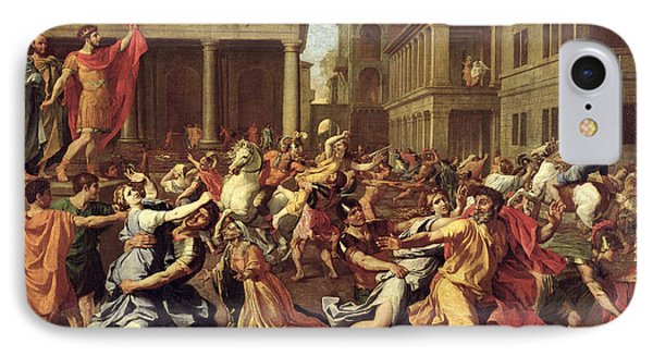The Rape Of The Sabines IPhone Case by Nicolas Poussin