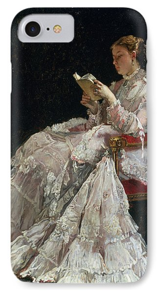 The Reader IPhone Case by Alfred Emile Stevens