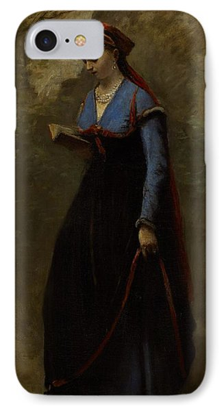 The Reader IPhone Case by Jean Baptiste Camille Corot