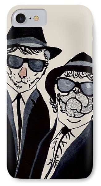 The Real Blues Brothers IPhone Case by Connie Valasco