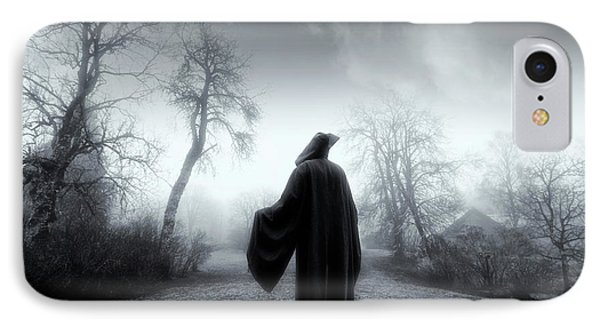 The Reaper Moving Through Mist And Fog IPhone Case by Christian Lagereek