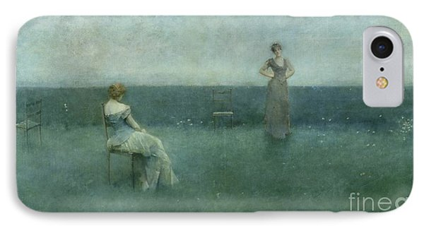The Recitation Phone Case by Thomas Wilmer Dewing