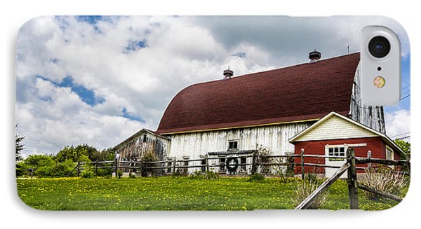 IPhone Case featuring the photograph The Red And White Barn by Paula Porterfield-Izzo