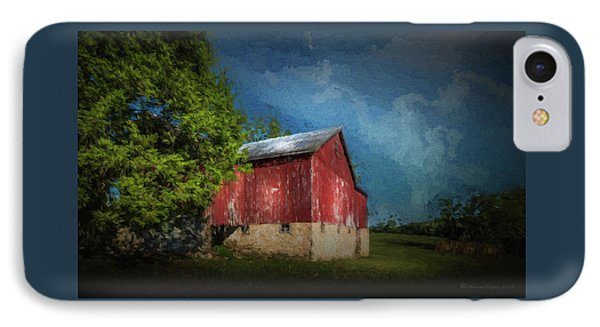 IPhone Case featuring the photograph The Red Barn by Marvin Spates