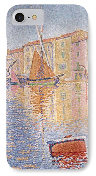 The Red Buoy IPhone Case by Paul Signac