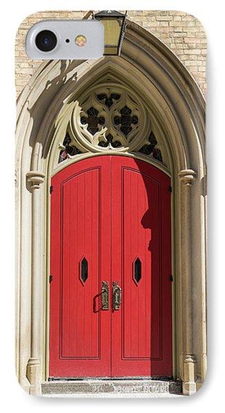 The Red Church Door. IPhone Case