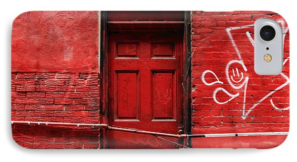 The Red Door Bar IPhone Case by Kreddible Trout