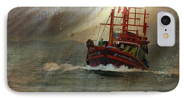IPhone Case featuring the photograph The Red Fishing Boat by LemonArt Photography