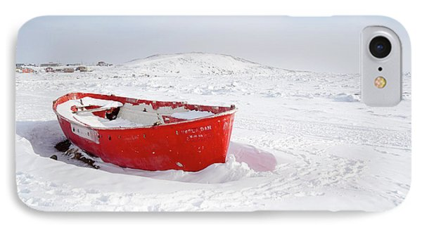 The Red Fishing Boat IPhone Case by Nick Mares