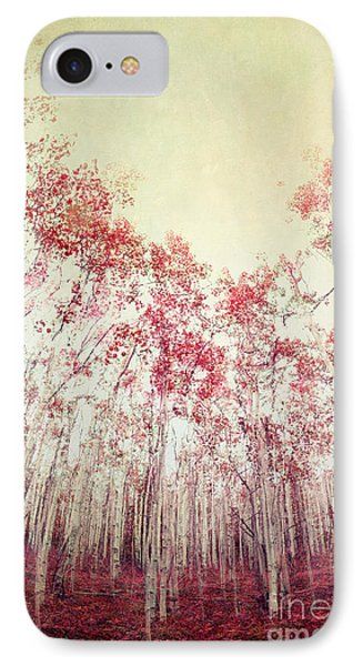The Red Forest IPhone Case by Priska Wettstein