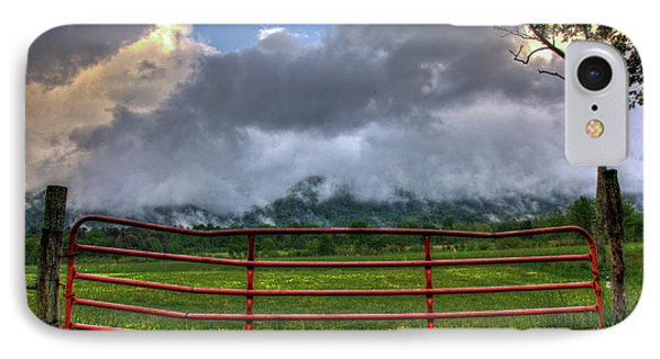 IPhone Case featuring the photograph The Red Gate by Douglas Stucky