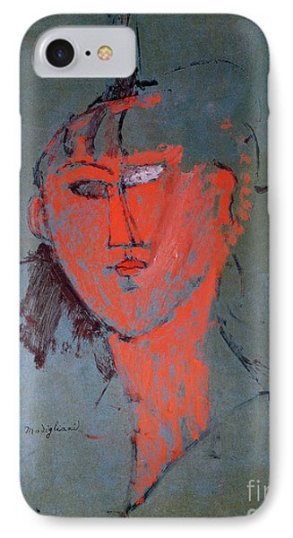 The Red Head IPhone Case by Amedeo Modigliani