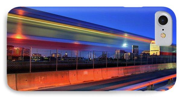 The Red Line Over The Longfellow Bridge IPhone Case