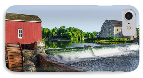 The Red Mill  On The Raritan River - Clinton New Jersey  IPhone Case by Bill Cannon