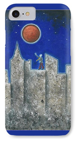 The Red Moon Phone Case by Graciela Bello