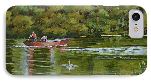 IPhone Case featuring the painting The Red Punt by Murray McLeod