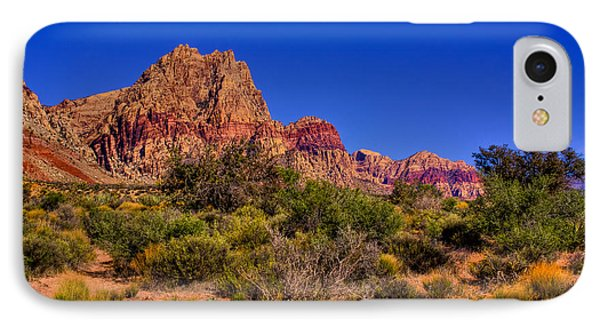 The Red Rock Canyon At Bonnie Springs Ranch Phone Case by David Patterson