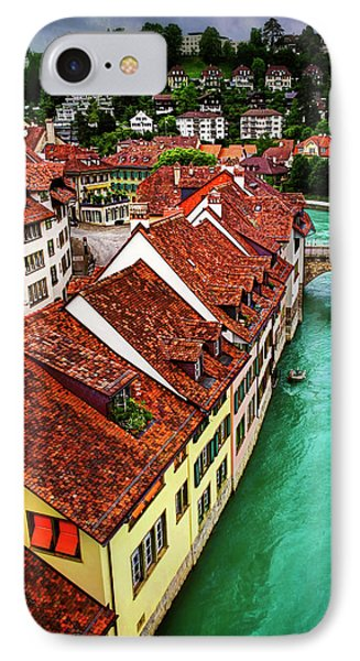 The Red Rooftops Of Bern Switzerland  IPhone Case