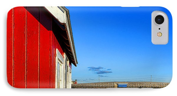 The Red Shack And The Cribstone Bridge IPhone Case by Olivier Le Queinec