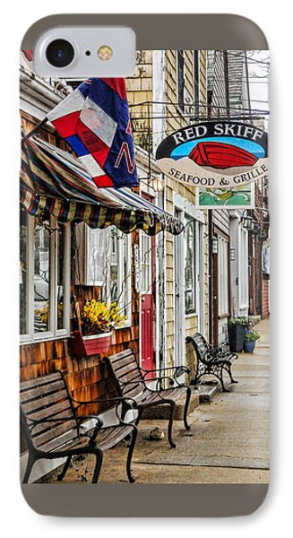 The Red Skiff In Rockport Ma IPhone Case