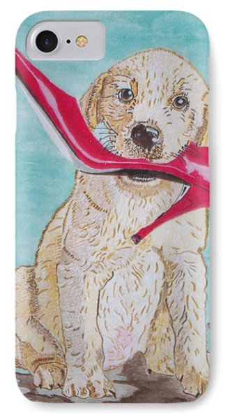 IPhone Case featuring the painting The Red Slipper  by Connie Valasco
