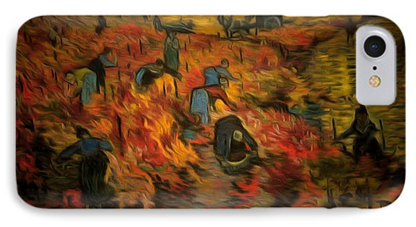 The Red Vineyard By Van Gogh Revisited - Da IPhone Case