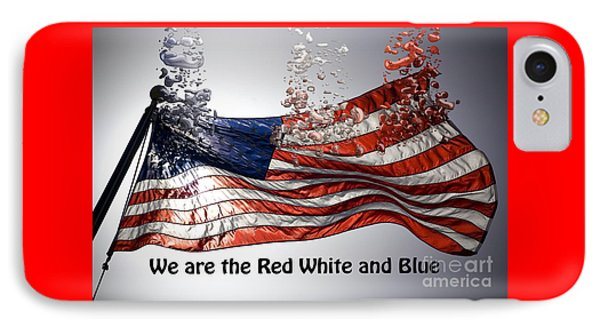 The Red White And Blue  IPhone Case by Beverly Guilliams