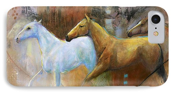 The Reflection Of The White Horse IPhone Case by Frances Marino