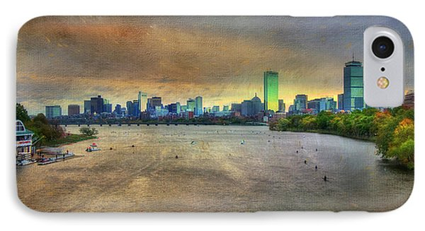 IPhone Case featuring the photograph The Regatta - Head Of The Charles - Boston by Joann Vitali