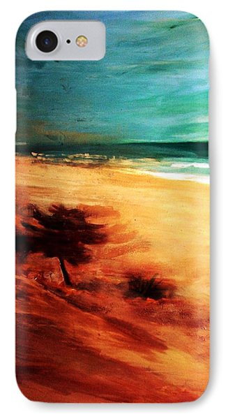 IPhone Case featuring the painting The Remaining Pine by Winsome Gunning