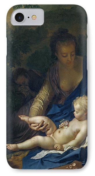 The Rest On The Flight Into Egypt IPhone Case by Adriaan van der Werff