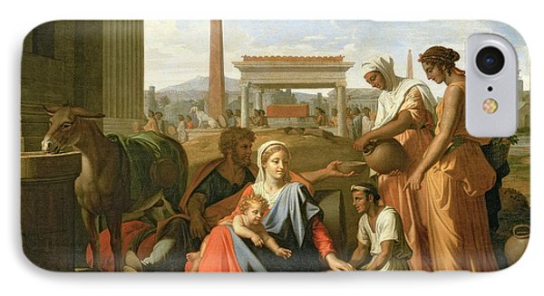 The Rest On The Flight Into Egypt Phone Case by Nicolas Poussin