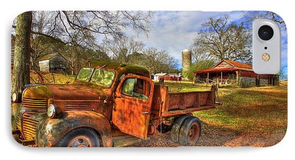The Resting Place 2 Farm Life 1947 Dodge Dump Truck Art IPhone Case by Reid Callaway
