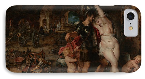 The Return From War- Mars Disarmed By Venus  IPhone Case by Peter Paul Rubens