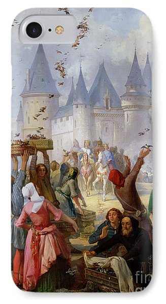 The Return Of Saint Louis Blanche Of Castille To Notre Dame Paris Phone Case by Pierre Charles Marquis
