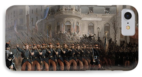 The Return Of The Troops To Paris From The Crimea IPhone Case by Emmanuel Masse