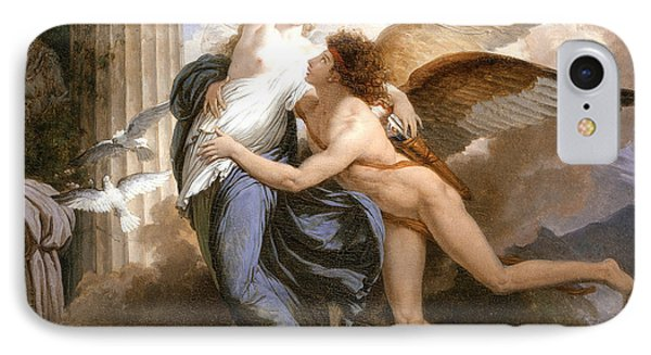 The Reunion Of Cupid And Psyche IPhone Case by Jean Pierre Saint-Ours