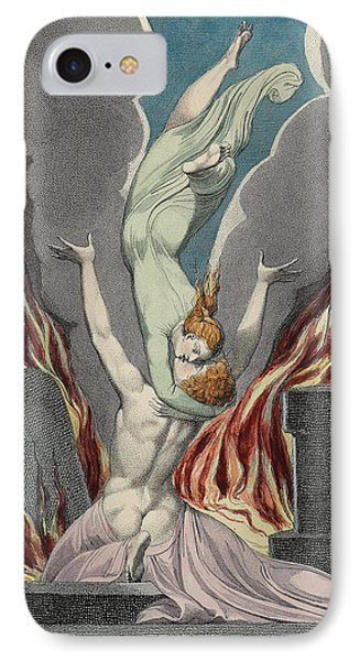The Reunion Of The Soul And The Body IPhone Case by Sir William Blake