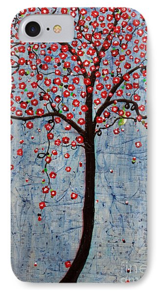 IPhone Case featuring the painting The Rhythm Tree by Natalie Briney
