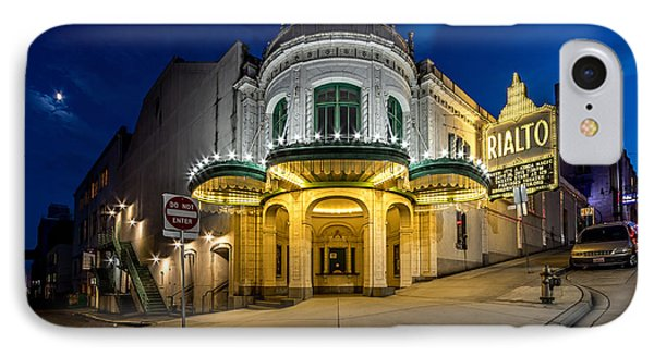 The Rialto Theater - Historic Landmark IPhone Case by Rob Green