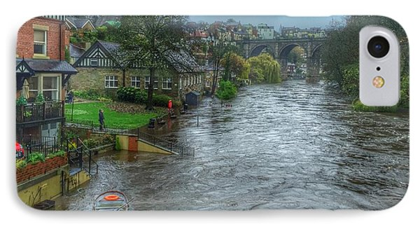 IPhone Case featuring the photograph The River Nidd In Flood At Knaresborough by RKAB Works