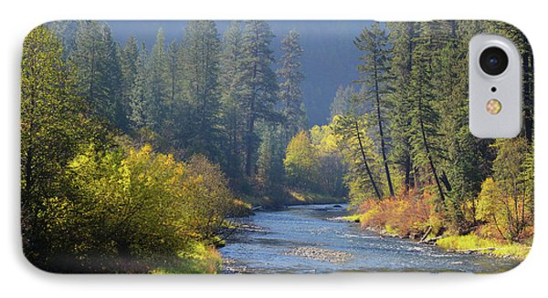 The River Runs Through Autumn IPhone Case