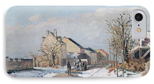 The Road From Gisors To Pontoise IPhone Case by Camille Pissarro