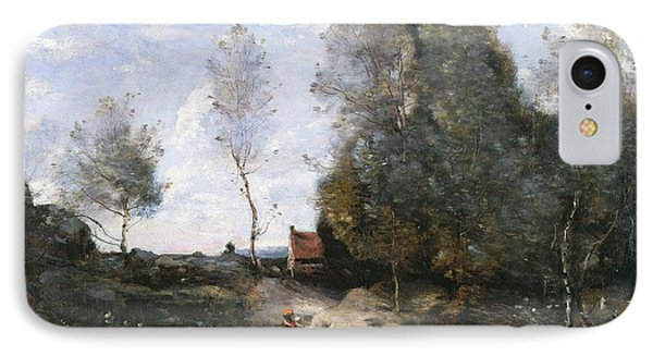 The Road IPhone Case by Jean Baptiste Camille Corot