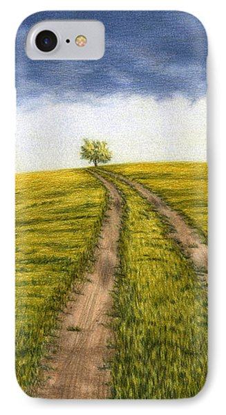 The Road Less Traveled IPhone Case by Sarah Batalka