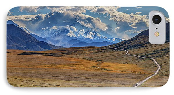 The Road To Denali IPhone Case by Rick Berk