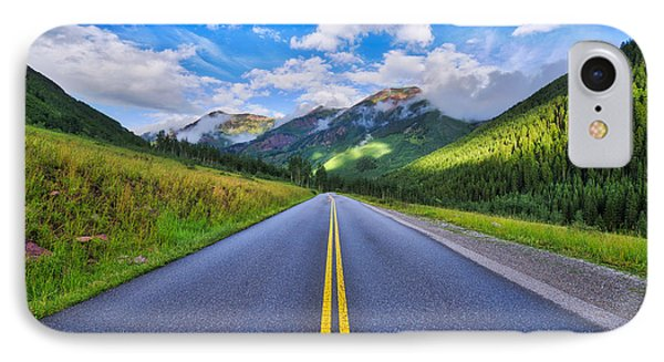 IPhone Case featuring the photograph The Road To Maroon Lake by Photography By Sai