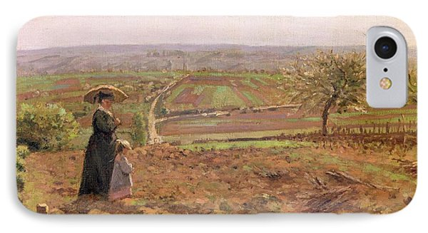 The Road To Rouen Phone Case by Camille Pissarro