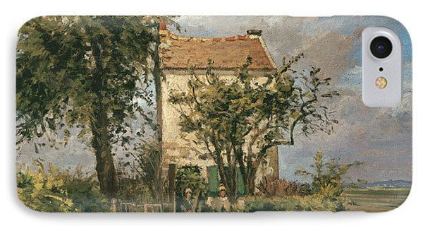 The Road To Rueil Phone Case by Camille Pissarro